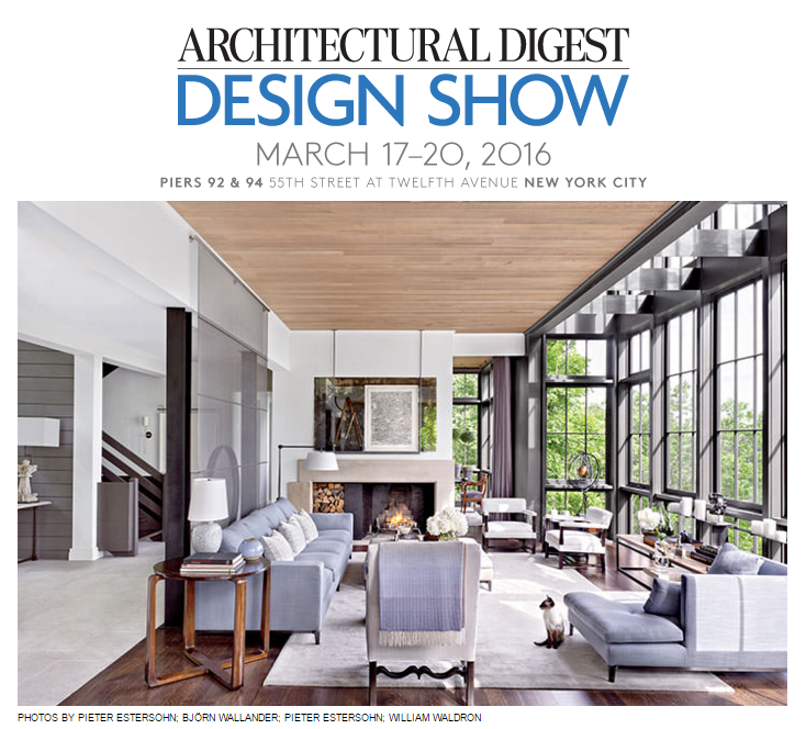 Architectural home design show 2016 for Architectural digest house plans